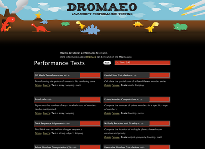 Dromaeo JavaScript Performance Testing